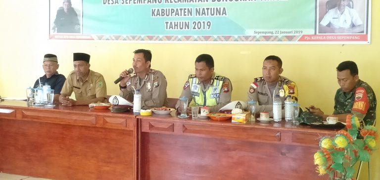 SOSIALISASI MILENIAL ROAD SAFETY FESTIVAL,POLRES NATUNA SAMBANGI DESA SEPEMPANG